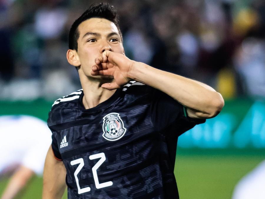 Hirving Lozano en la selección de México