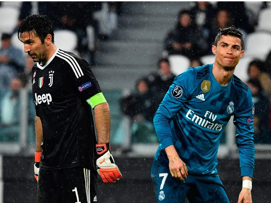 Buffon y Ronaldo