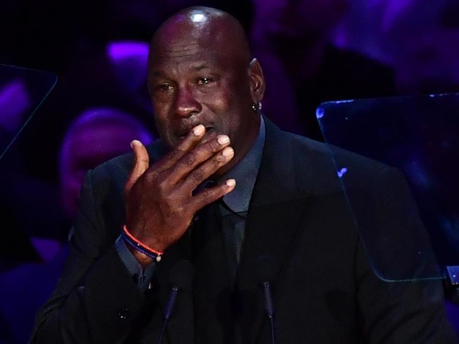 Michael Jordan en el tributo a la vida de Kobe Bryant