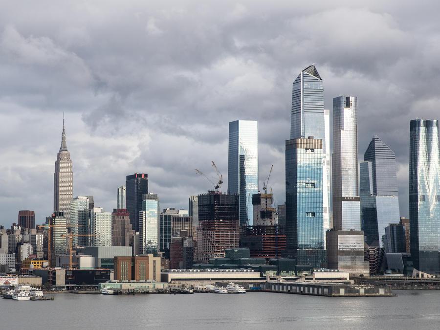 Vista de Manhattan desde el río Hudson River, en Nueva York