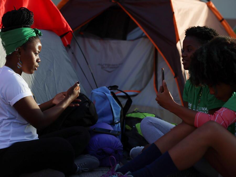 Activistas por el derecho al aborto en Santo Domingo, Republica Dominicana