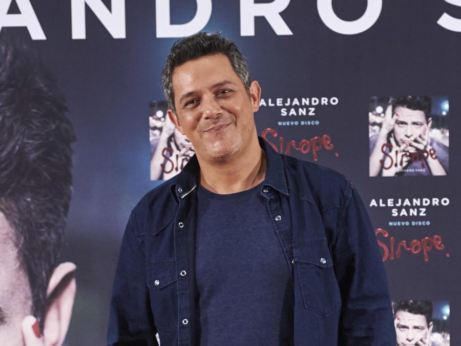 Alejandro Sanz en el lanzamiento de Sirope