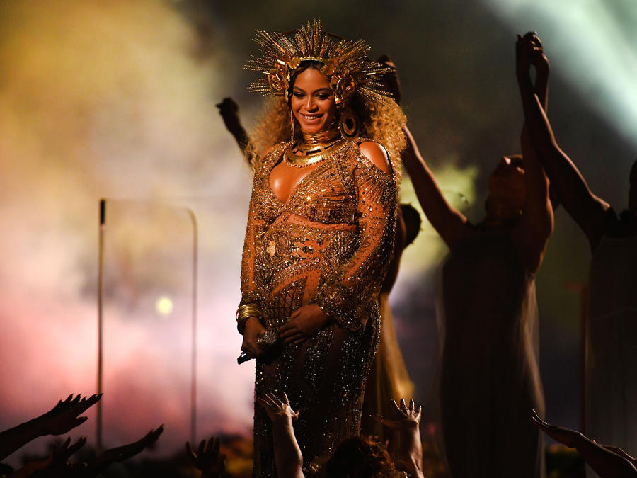 Beyonce en los 59th GRAMMY Awards