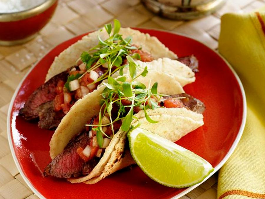 Tacos de carne asada de Pinterest