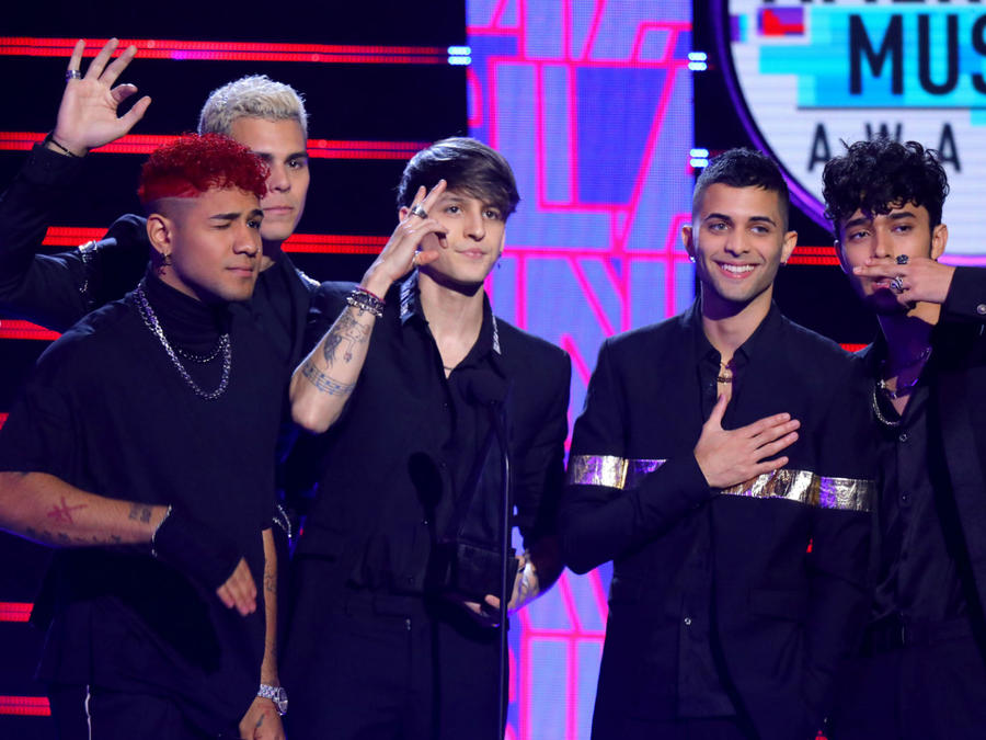 2019 Latin AMAs: CNCO Admits They Still Get Nervous to Perform