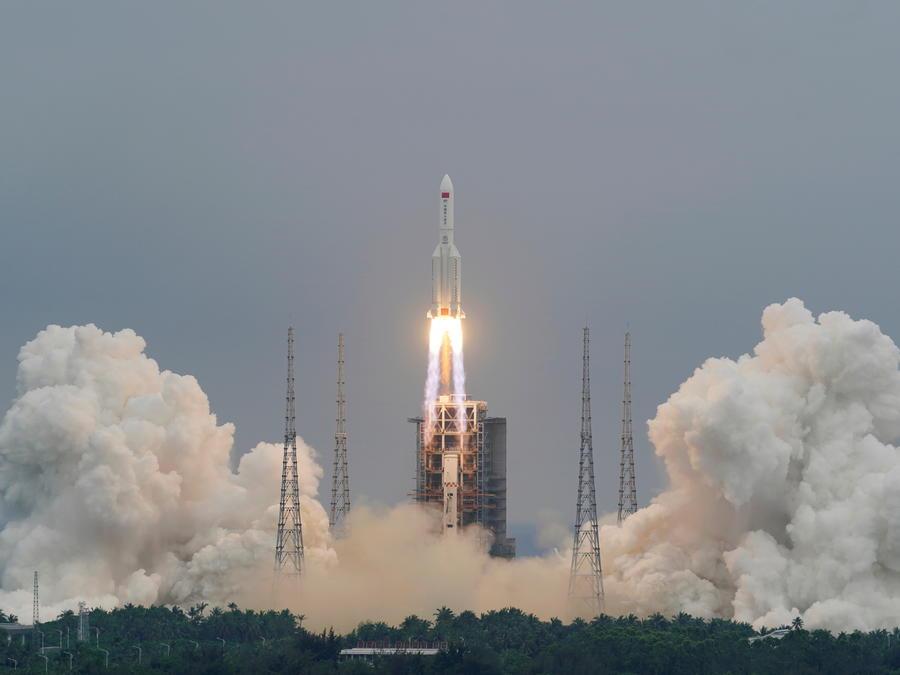 El cohete Long March-5B Y2