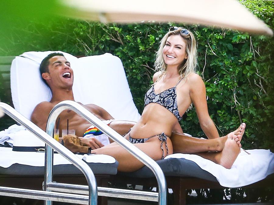 Cristiano Ronaldo y Cassandre Davis captados por las cámaras en Miami
