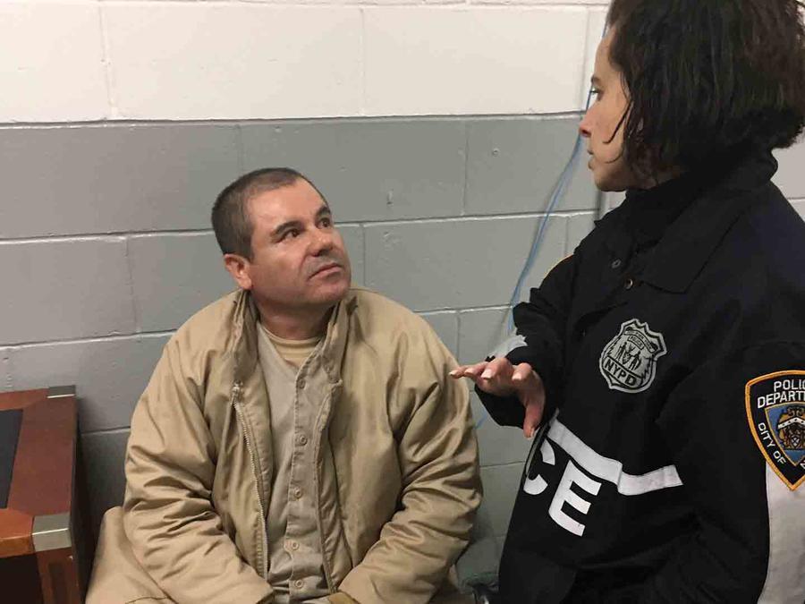 """""""El Chapo"""" Guzmán, en custodia en EEUU"""