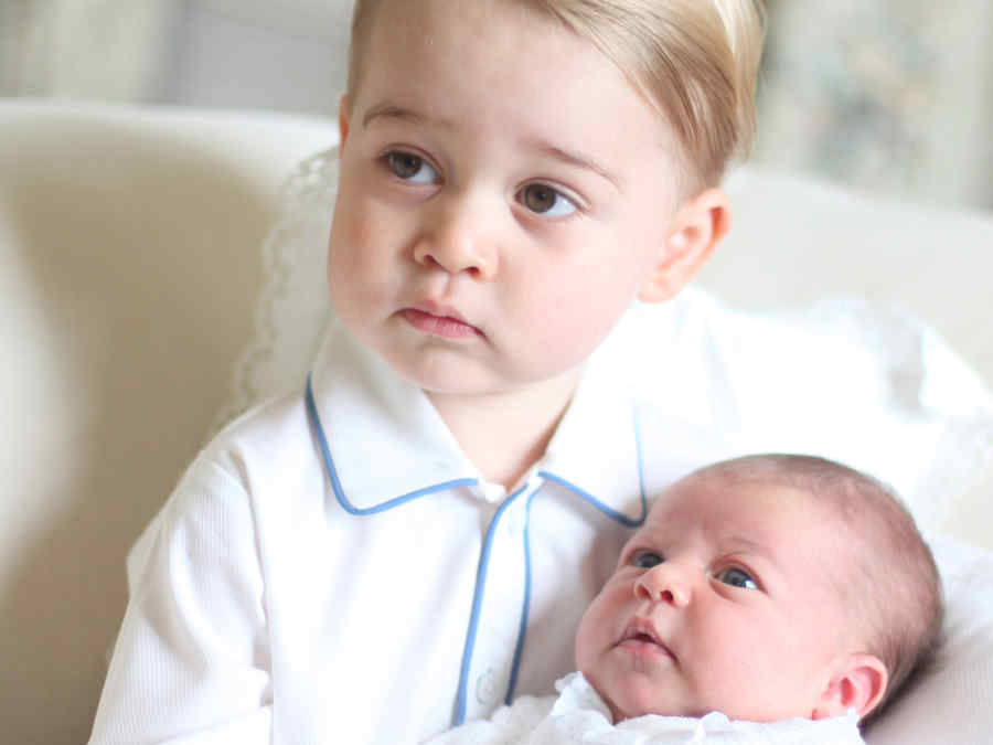 La primera foto del Princípe Geroge y su hermana la princesa Charlotte