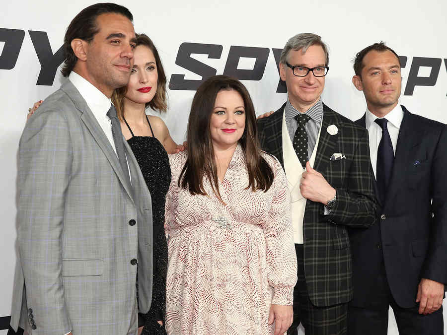 """Foto de la premiere mundial de la película """"Spy""""."""