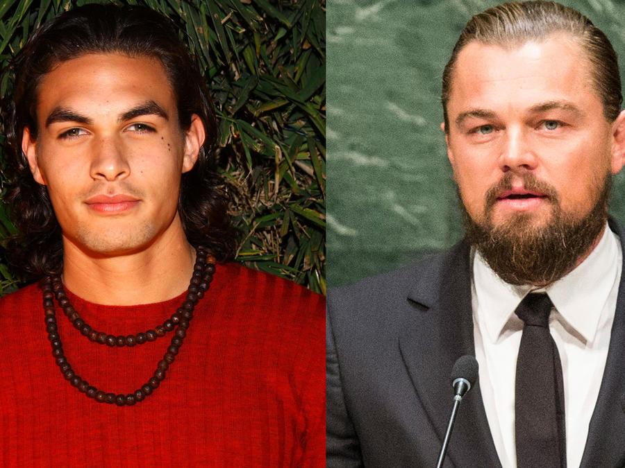 Jason Momoa y Leonardo DiCaprio