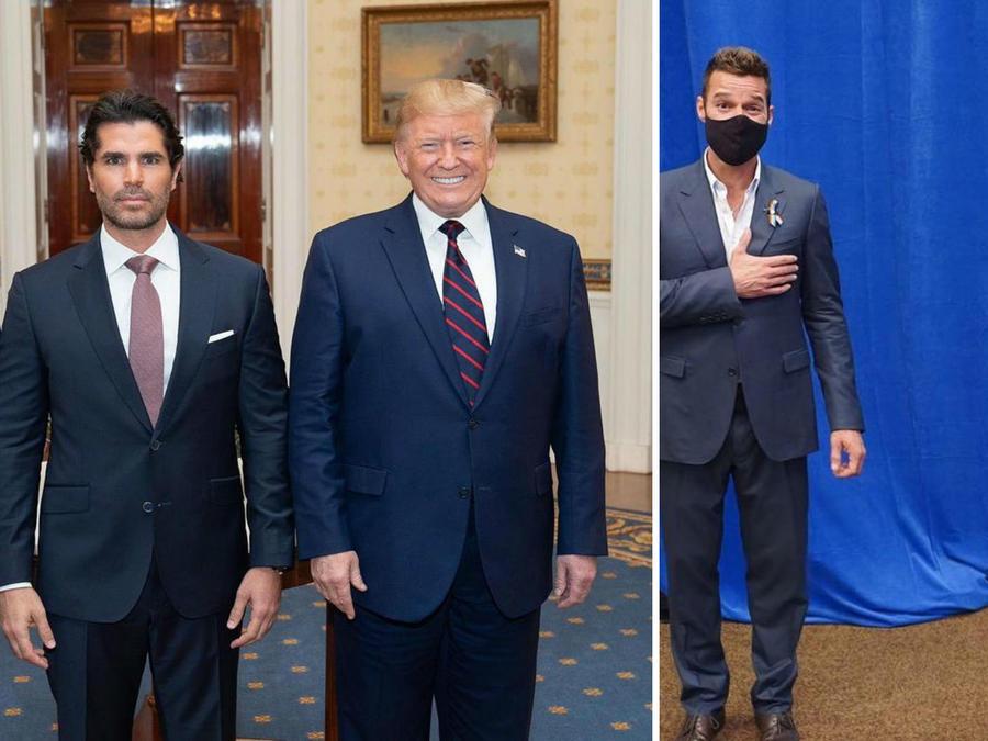 Eduardo Verástegui, Donald Trump, Ricky Martin y Joe Biden
