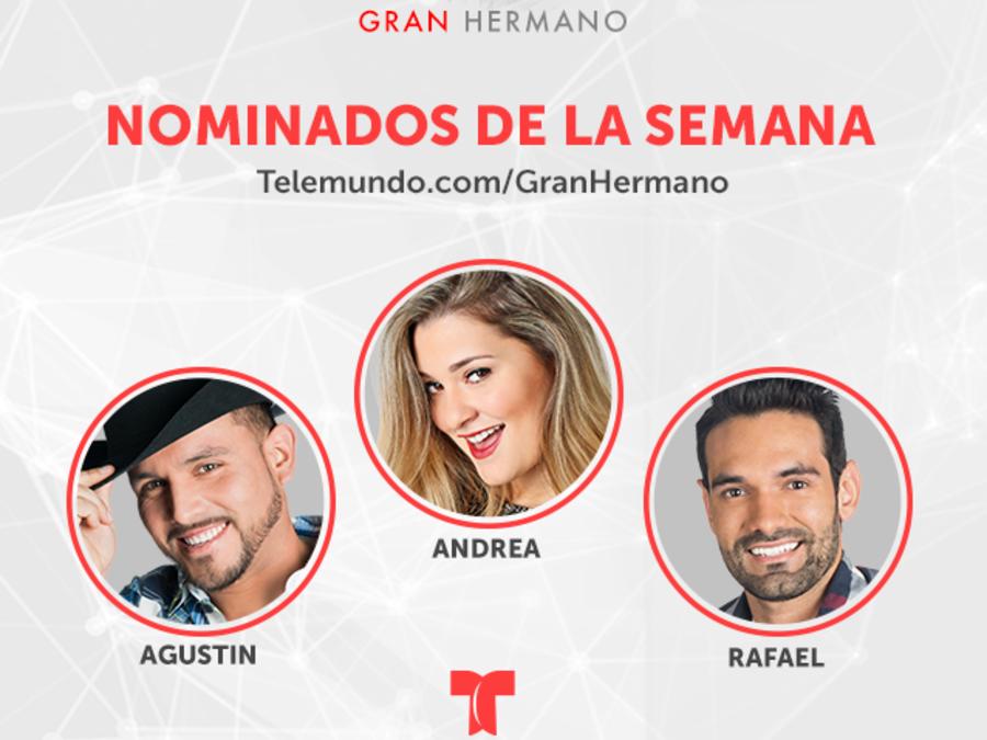 Gráfica de nominados en la décima semana de Gran Hermano