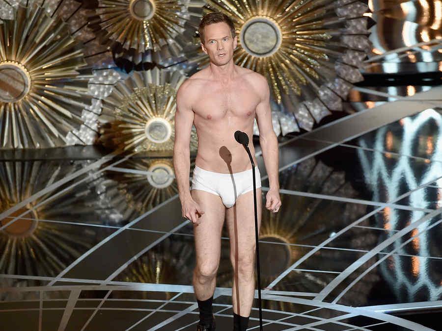 Neil Patrick Harris en calzoncillos en los premios Oscar 2015