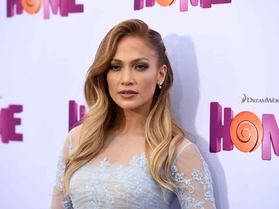 "Jennifer Lopez en el estreno de ""Home"""