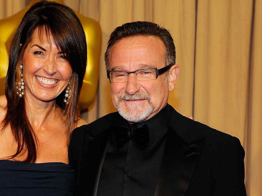 Robin Williams y su esposa en los premios Oscar.