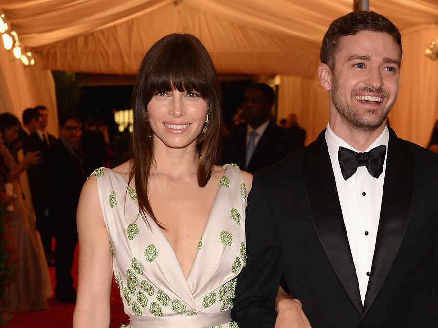 Justin Timberlake y Jessica Biel en la gala Schiaparelli And Prada 2012