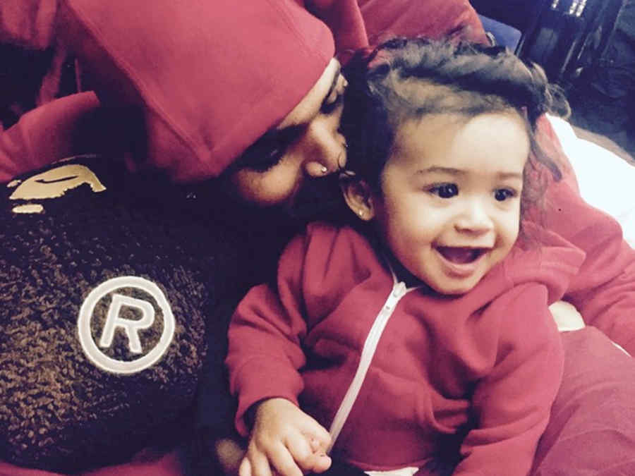 Chris Brown y su hija Royalty