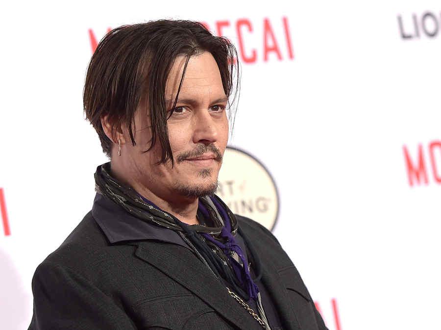 "Johnny Depp en la premiere de ""Mortdecai""."