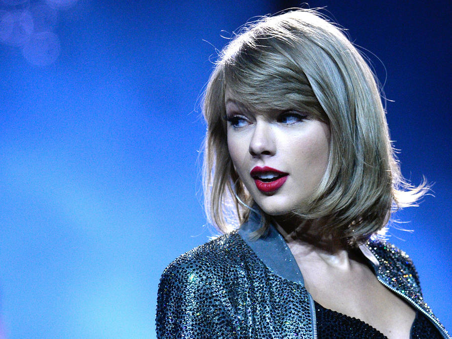 Taylor Swift durante su gira 1989.