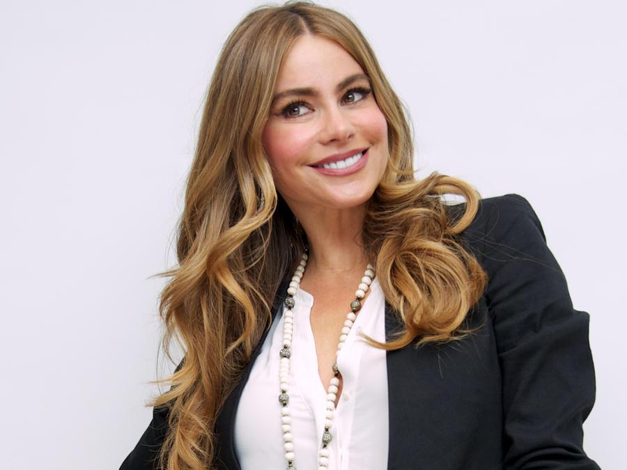 Sofía Vergara en la conferencia de prensa de 'Modern Family'