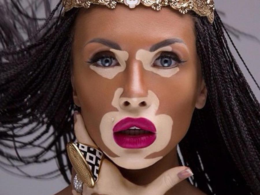 Usuaria Wowkrg de instagram se maquilla como Winnie Harlow