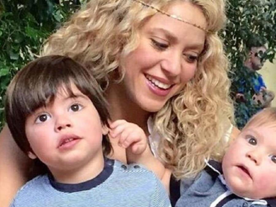 Shakira junto a Milan y Sasha Piqué