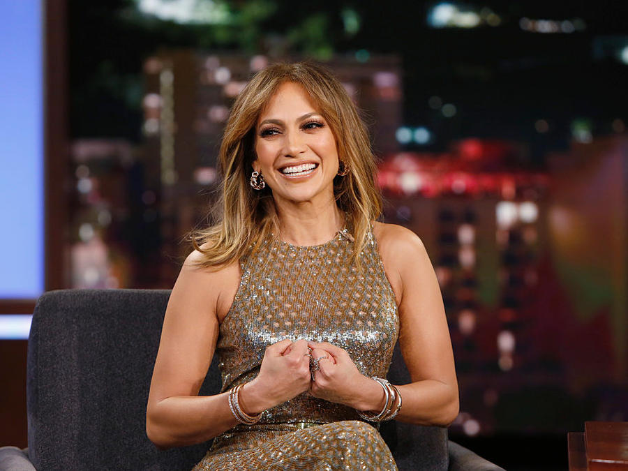 "Jennifer Lopez en el show de ""Jimmy Kimmel Live"""