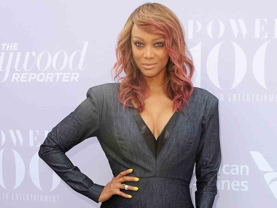 Tyra Banks en The Hollywood Reporter's Annual Women in Entertainment en Los Ángeles
