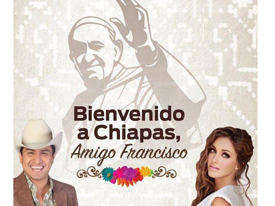 Julion Álvarez y Anahí canción dedicada para Papa Francisco