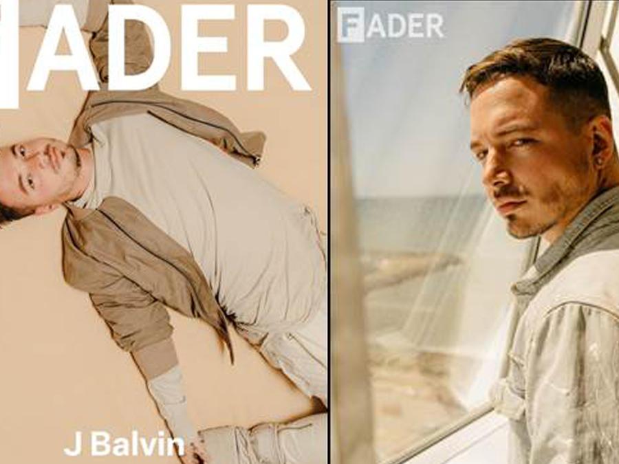 J Balvin en la portada de la revista Fader