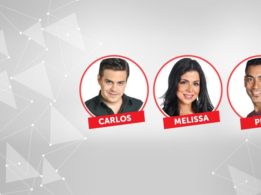 Carlos, Melissa y Pedro los nominados de la quinta semana en Gran Hermano