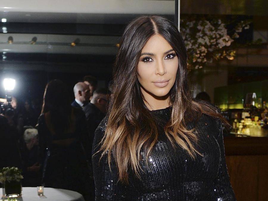 Kim Kardashian con cabello ombré