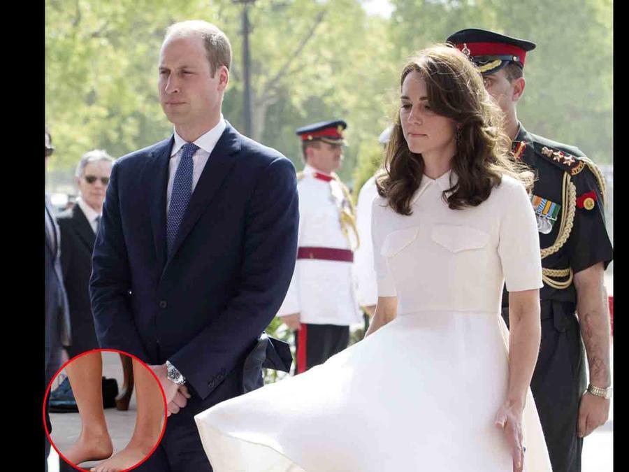 Kate Middleton y príncipe William en India