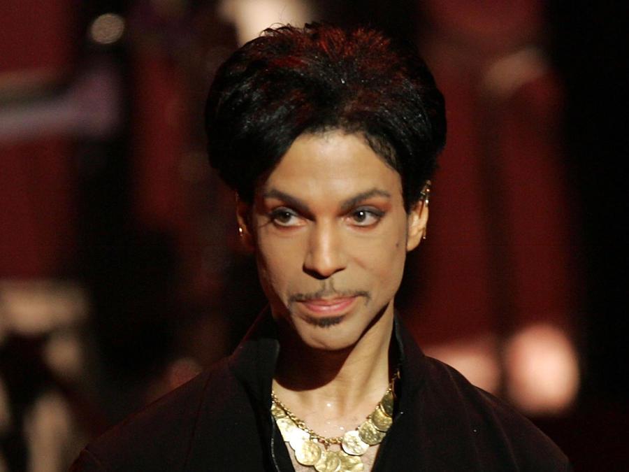 Prince en el escenario en el 2005