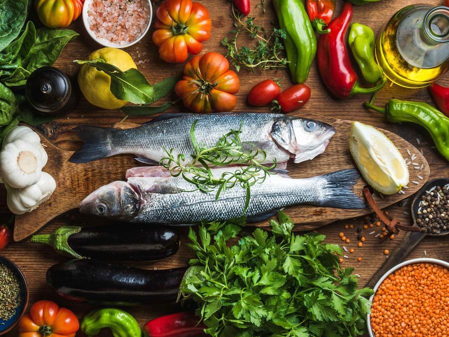 Alimentos principales de la dieta mediterránea