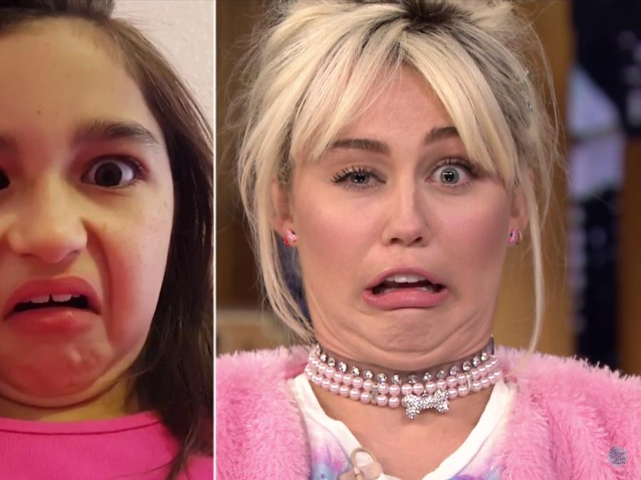 Miley Cyrus juega Funny Faces en el show de Jimmy Fallon