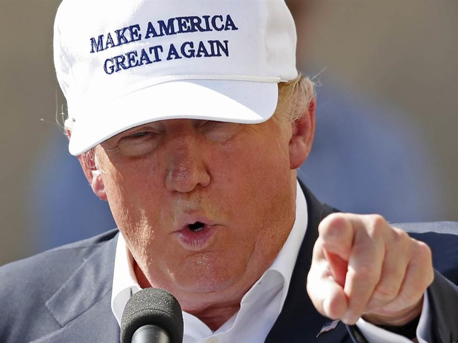 Donald Trump durante el evento en New Hampshire.