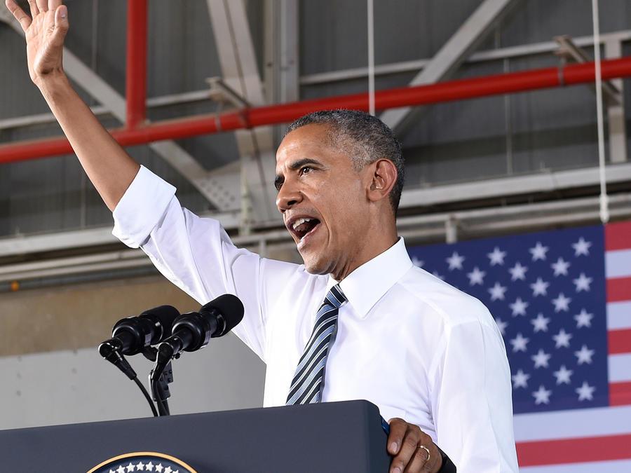 El presidente Obama se dirige a tropas de EEUU en Cádiz durante su visita España el domingo 10 de Julio del 2016
