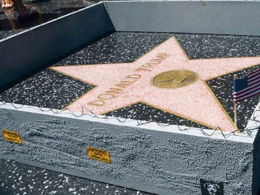 Muro en la estrella de Trump