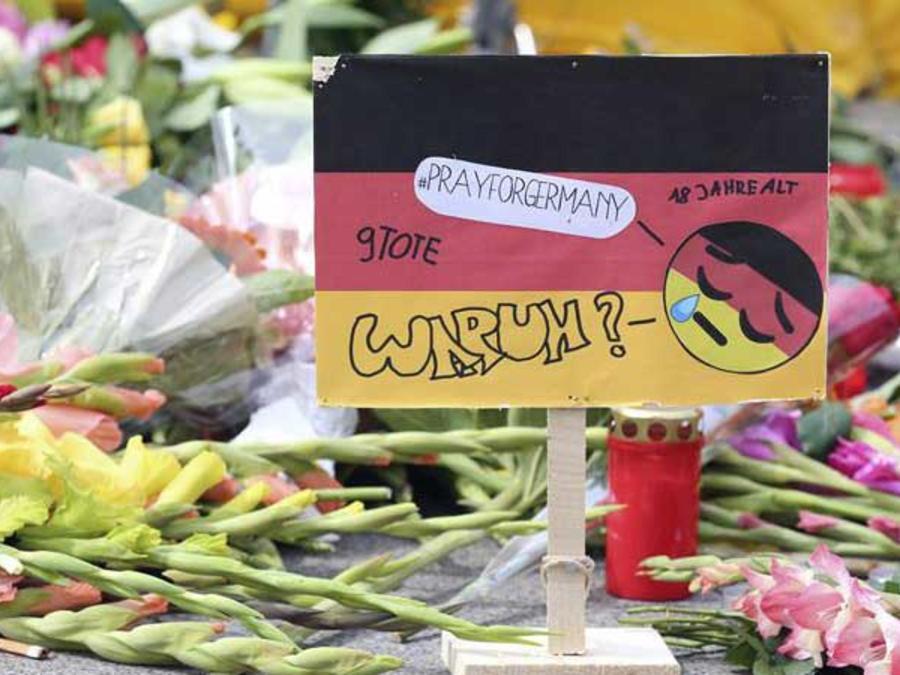 flores en honor a victimas de munich