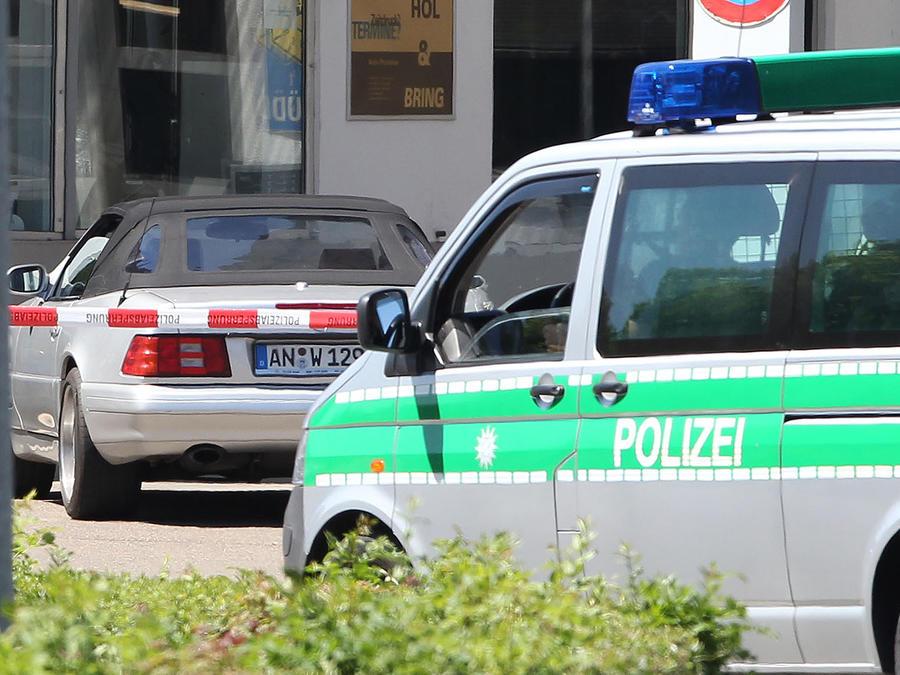 Auto de la policía en Alemania/ Archivo