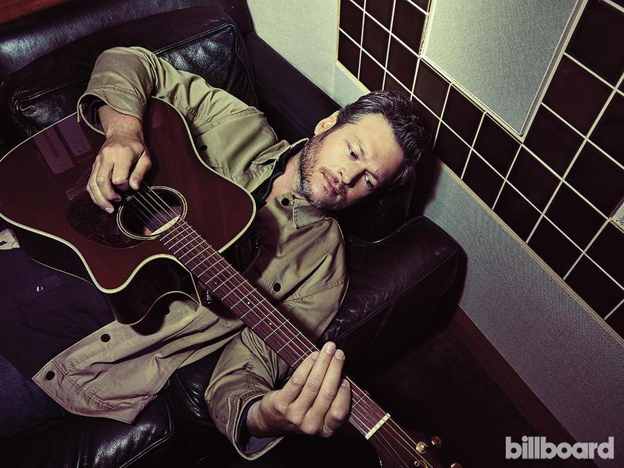 Blake Shelton en la sesión de fotos para la portada de Billboard
