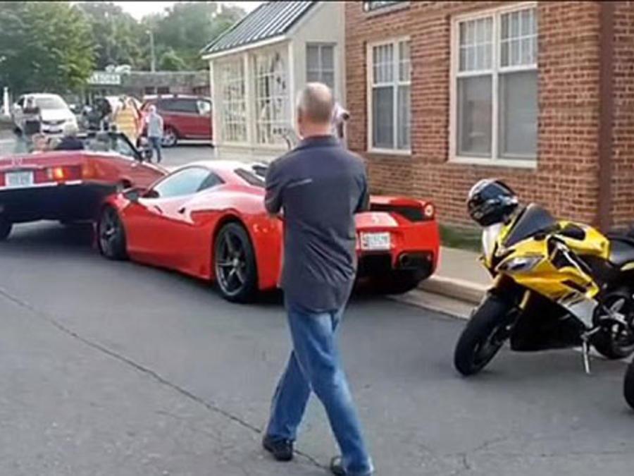 Choque de Mercedes con Ferrari