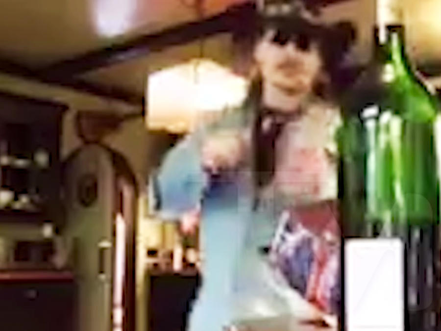 Johnny Depp en su cocina