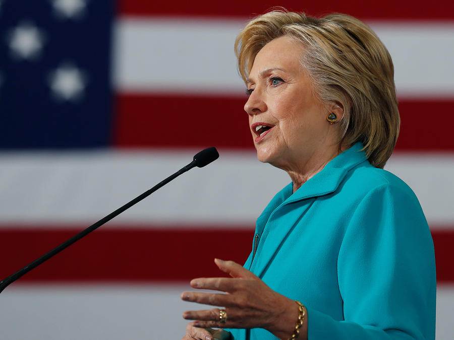 Hillary Clinton en un evento de campaña en Reno, Nevada, el 25 de agosto del 2016.