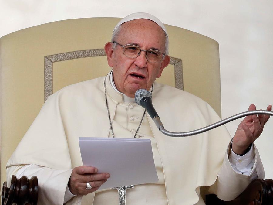 el papa francisco en la audiencia de los miercoles