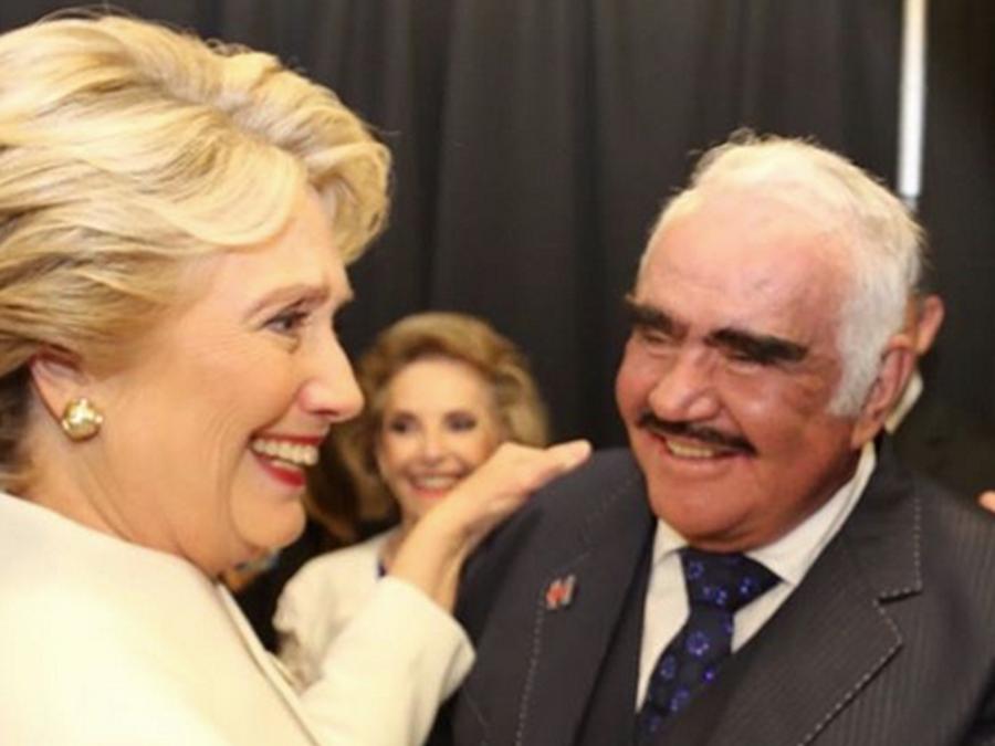 Hillary Clinton y Vicente Fernandez