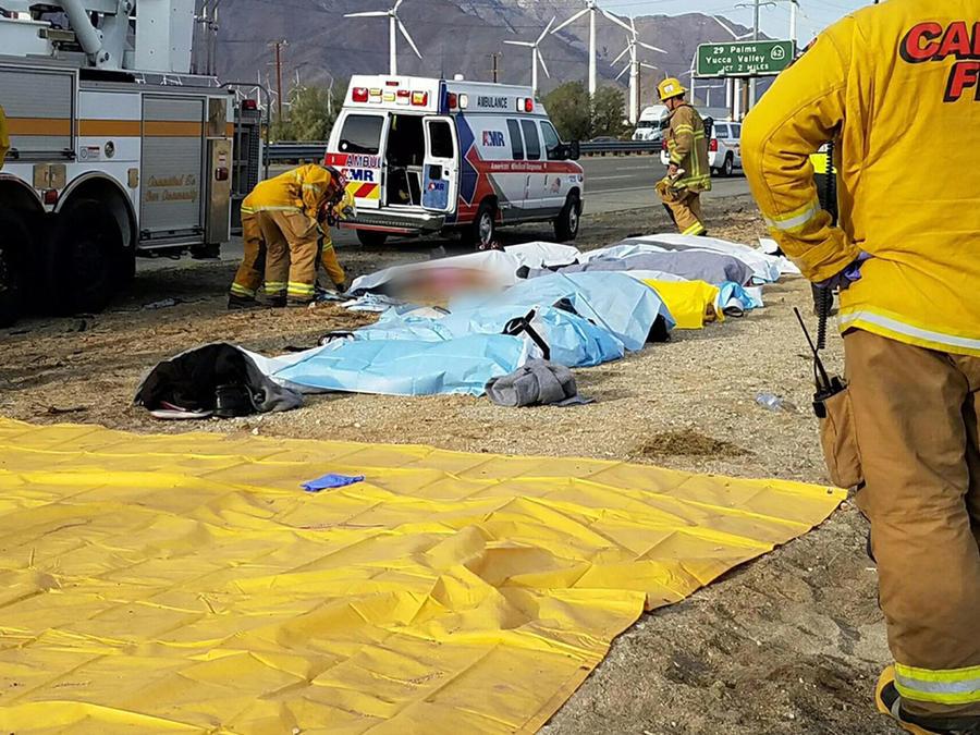 Accidente de bus en California