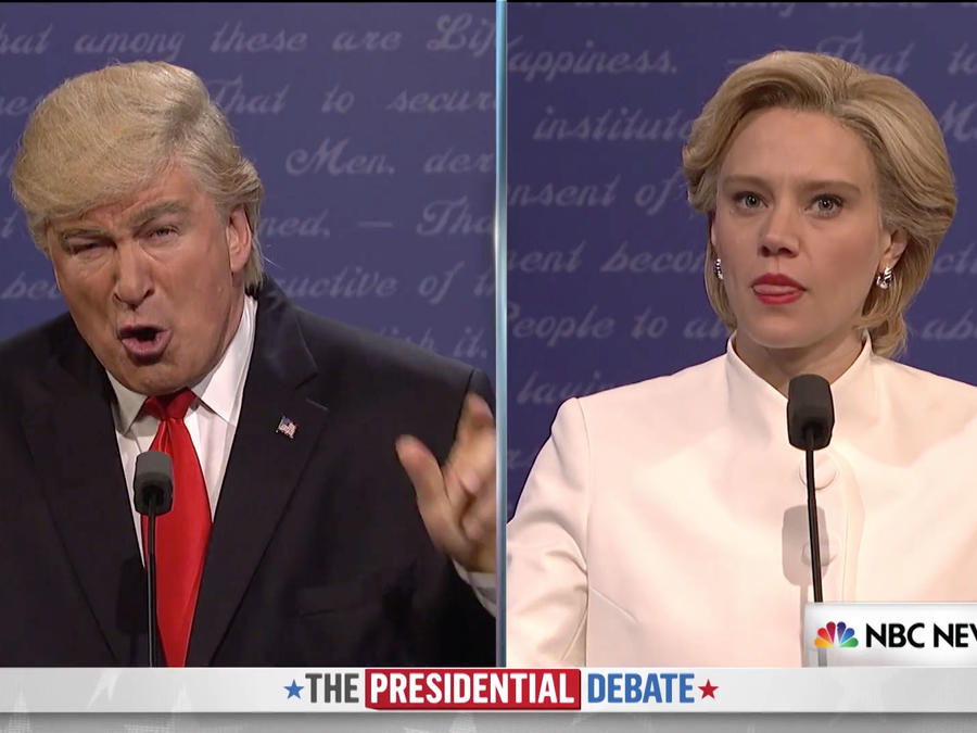 SNL Trump y Clinton tercer debate